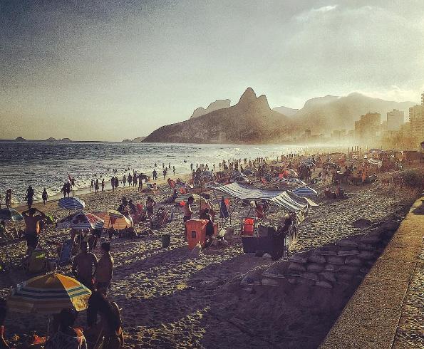 Plaja Ipanema la apus