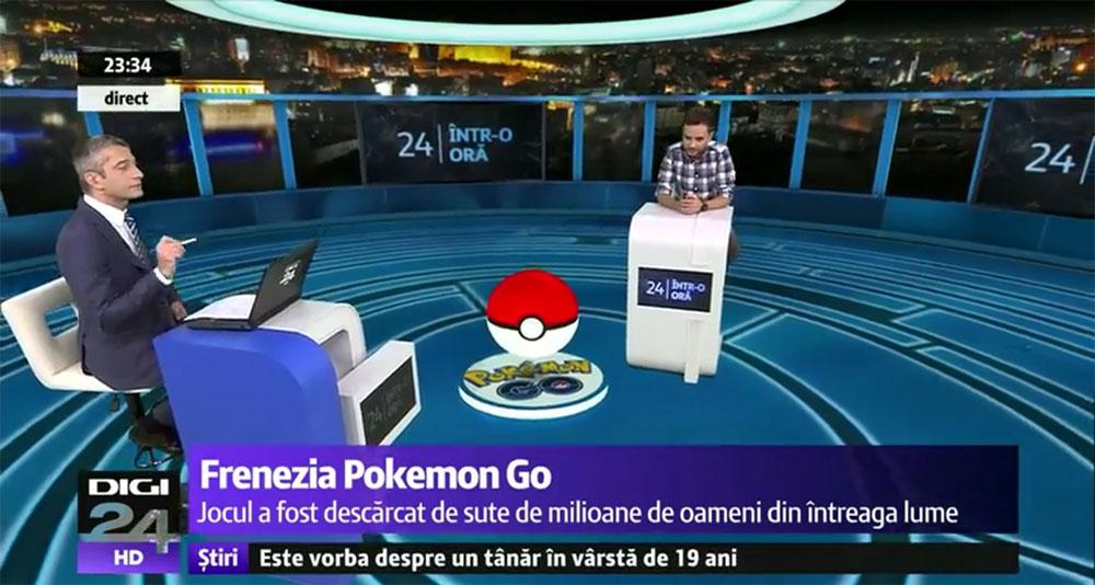 Din nou despre Pokemon GO, de data asta la Digi24