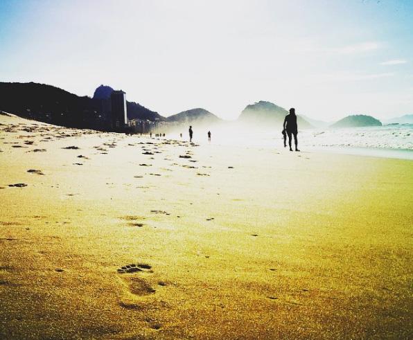 Plaja Copacabana la răsărit